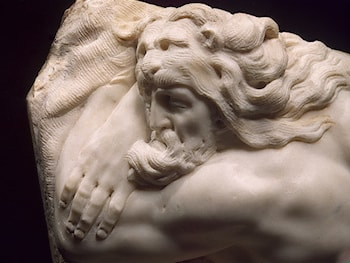 Sleeping Hercules [detail: 1] by Baccio Bandinelli